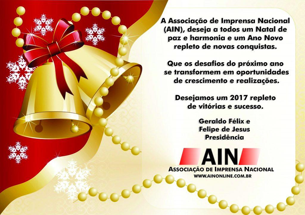 Cartão AIN - FIM DE ANO - 2016